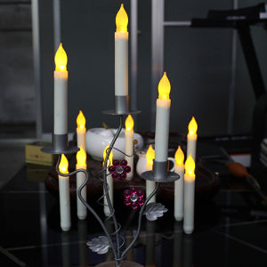 Plastic LED Light Tall Church Candles with Battery
