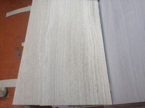 China White Wooden Vein Marble Tiles, Paving Marble Slabs, Natural Stone Walling Marble Tile for Flooring pictures & photos