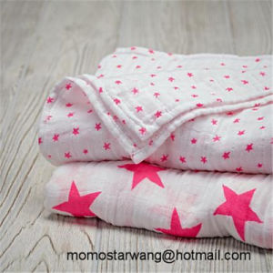 Soft Cotton Muslin Baby Blanket Swaddle Blanket with High Quality pictures & photos