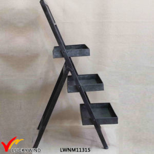 Rustic Black Metal Design Freestanding Foldable Planter Display Stand pictures & photos