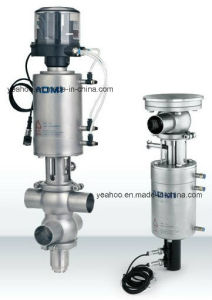 Sanitary Stainless Steel Double Seat Mix-Proof Valve