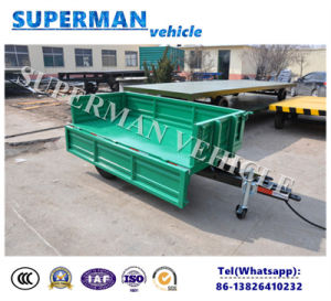 2t Agriculture Cargo Front Dump Trailer/Drawbar Trailer/Tipping Trailer pictures & photos