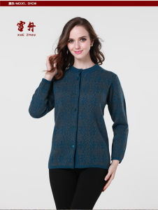 Women′s Yak Wool/Cashmere Round Neck Cardigan Coat/Sweater/Garment/Knitwear/Clothes pictures & photos