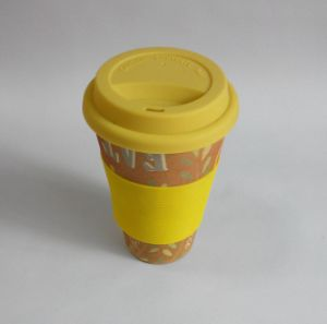 (BC-C1038) Eco Bamboo Fibre Coffee Cup with Print pictures & photos