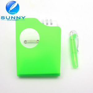 Plastic Cover Memo Pad with Ballpen, Spiral Binding Memo Pad pictures & photos