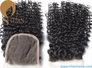 Kinky Curly Human Hair Free Style Lace Closure pictures & photos