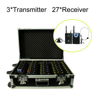 Professional Wireless Tour Guide System Charging Case (3 PC Transmitter+27 PC Receivers+Charge Box for 30 PC) pictures & photos