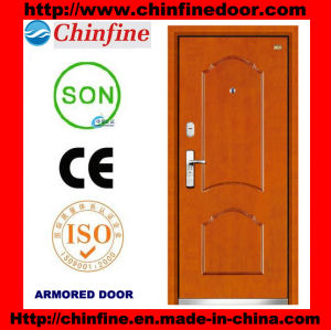 Cheap Price Steel-Wood Armored Doors (CF-M027) pictures & photos
