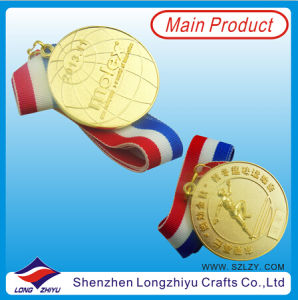 Sport Metal Trophy Gold 3D Logo Emboss pictures & photos