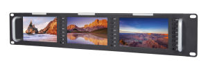 Triple 5 Inch 2ru Rack Mount LCD Monitor pictures & photos