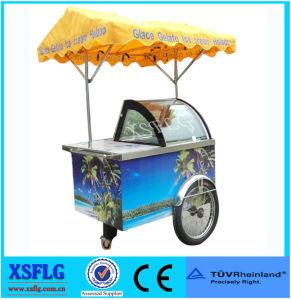 Italian Ice Cream Cart/ Popsicle Tricycle Showcase / Refrigerated Display Case pictures & photos