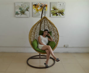 Egg Wicker Rattan Swing Chair with Stand