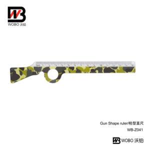 Office Stationery Cartoon Gun Shape Plastic Ruler for School