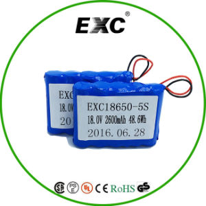 5s 18V Lipo Battery 18650 Rechargeable Lithium Polymer Battery pictures & photos