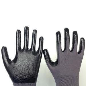 Nylon Glove with Smooth Nitrile Coating