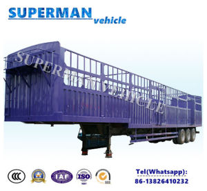 3 Axle Side Wall Bulk Goosneck Semi Truck Trailer for Cargo pictures & photos