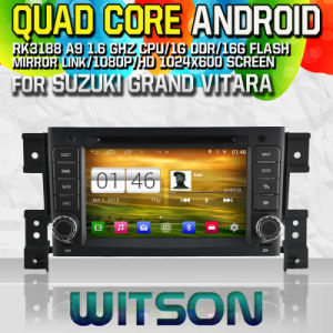 Witson S160 Car DVD GPS Player for Suzuki Grand Vitara (2005-2012) Rk3188 Quad Core HD 1024X600 Screen 16GB Flash 1080P WiFi 3G Front DVR DVB-T Mirror-Link Pip pictures & photos