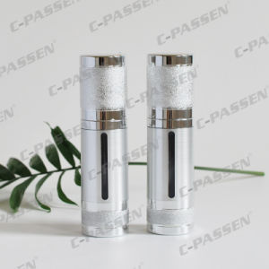 Luxury Gold/Sliver Alumite Acrylic Airless Bottle for Cosmetic Packaging (PPC-NEW-018) pictures & photos