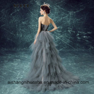 Love May Ladies Nice Black Feather Evening Dress Wedding Dresses Bridal Gowns pictures & photos