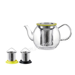 Tested Large Manufacturer Glass Teapot with Infuser pictures & photos