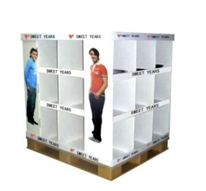 Wholesale Printed Cardboard Promotional Pallet Counter Display Box 49 pictures & photos