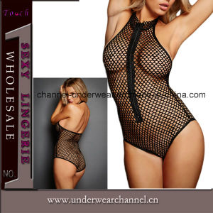 Sexy Women Black Fish Net Underwear Teddy Lingerie (T3262) pictures & photos