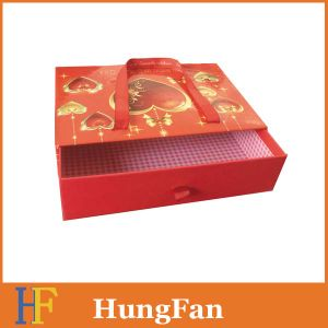 Fashion Style Storage packaging Paper Box with Ribbon Handle pictures & photos