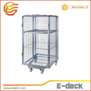 Foldable Pallet Steel Storage Roll Cage/Roll Container