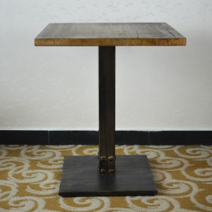 Square Industrial Vintage Wooden Cafe Table (SP-RT466) pictures & photos