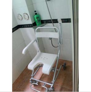 Topmedi Aluminum Bath Bench Shower Chair with Wheels TBB7962L pictures & photos