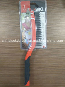 Double Colour Plastic Handle Steel Wire Barbecue Brush (YY-502) pictures & photos