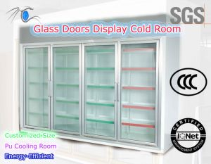 Energy-Efficient Four Doors Display Room for Supermarket or Store pictures & photos