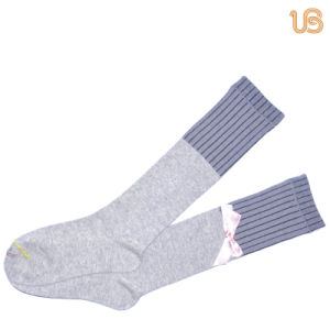 Women′s Long High Cotton Sock pictures & photos