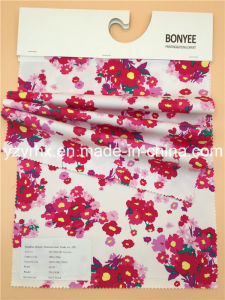 Finished Fabric Cotton / Spandex Floral Prints Twill Peach Stretch pictures & photos