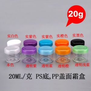 20g Round Recycled PP PS Cosmetic Sample Empty Screw Lid Cream Jar pictures & photos
