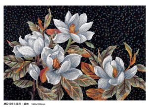 Flower Pattern Glass Mosaic Hand-Cut Design (MD1016) pictures & photos