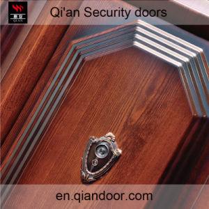 Black Walnut Veneer Steel Security Door pictures & photos