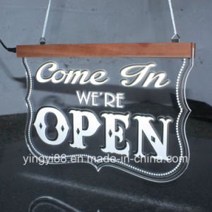 LED Open Sign, Super Bright Light up Open Sign, Illuminated Hanging Shop Sign pictures & photos