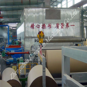 Waste Carton Box Pulping 1760mm Kraft/Brown Paper Making Machine pictures & photos