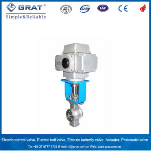 SUS316 High Quality Wafer Series Electric Regulating Ball Valve pictures & photos
