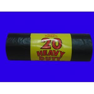 HDPE/LDPE Plastic Garbage Bags on Roll with Paper Label