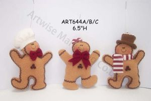 Fleece Ginger Holiday Decoration Gift -3asst. pictures & photos