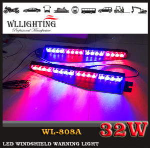 Red Blue 32 LED Strobe Car Interior Windshield Lights with Suction pictures & photos