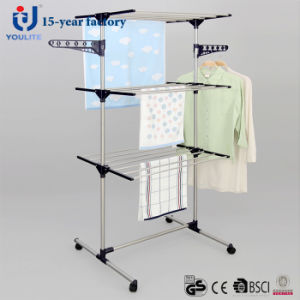 Stainless Steel Two Layer Garment Drying Rack pictures & photos