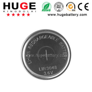High Capacity Rechargeable Li-ion Button Cell LIR3048 pictures & photos
