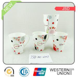 Vshape 14oz Ceramic Coffee Mug pictures & photos