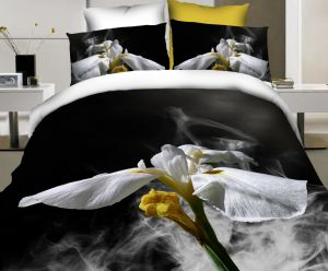 Great Bed Linen with Blooming Flowers 3D Bedding Set pictures & photos