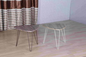 Irregular Shape Reinforced Leg Coffee Table