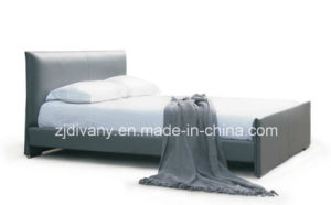American Style Leather Double Bed (A-B13) pictures & photos