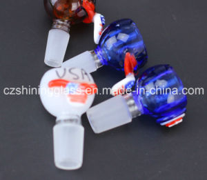 Whole Sale Design Shape Colorful Glass Water Pipe Accessories Glass Adapter pictures & photos